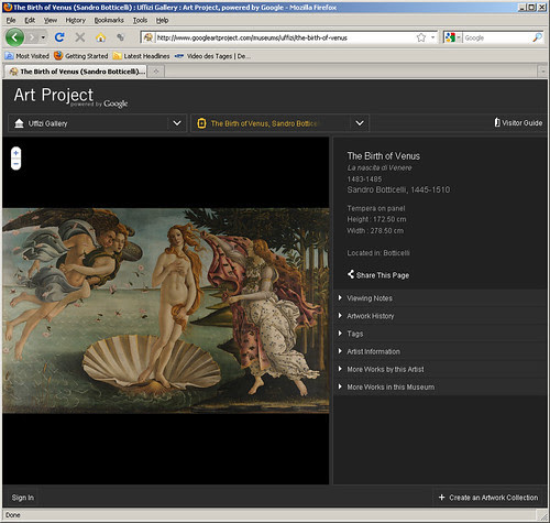 Art Project Powered by Google - Birth of Venus - Uffizi