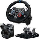 Logitech G29 Driving Force Race Wheel + Logitech G Driving Force Shifter Bundle