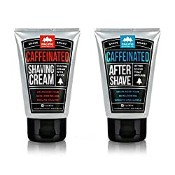 Father's Day Gift Ideas 2014- Caffeinated Shaving Cream & Aftershave Set via ProductReviewMom.com