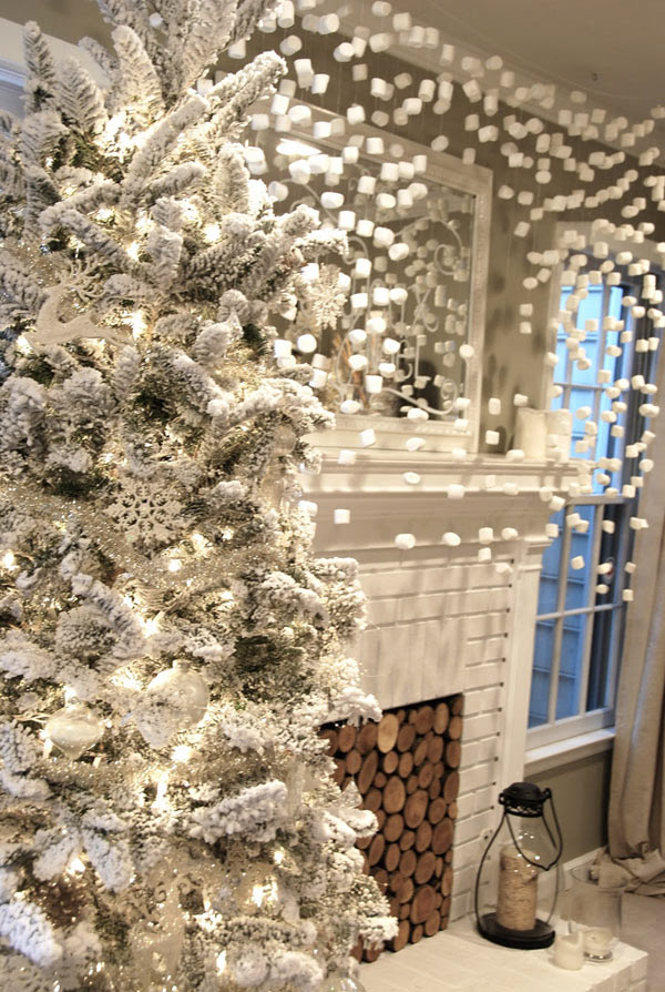 Marshmallow Christmas decor