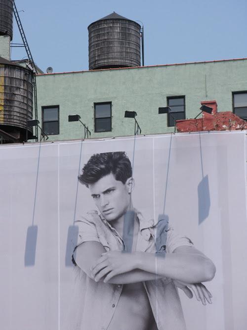 close up of Gap ad, Houston Street, Manhattan, NYC