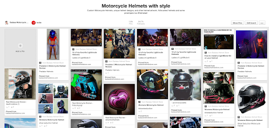 Motorcycle Helmet Art on Pinterest - My fav boards to follow