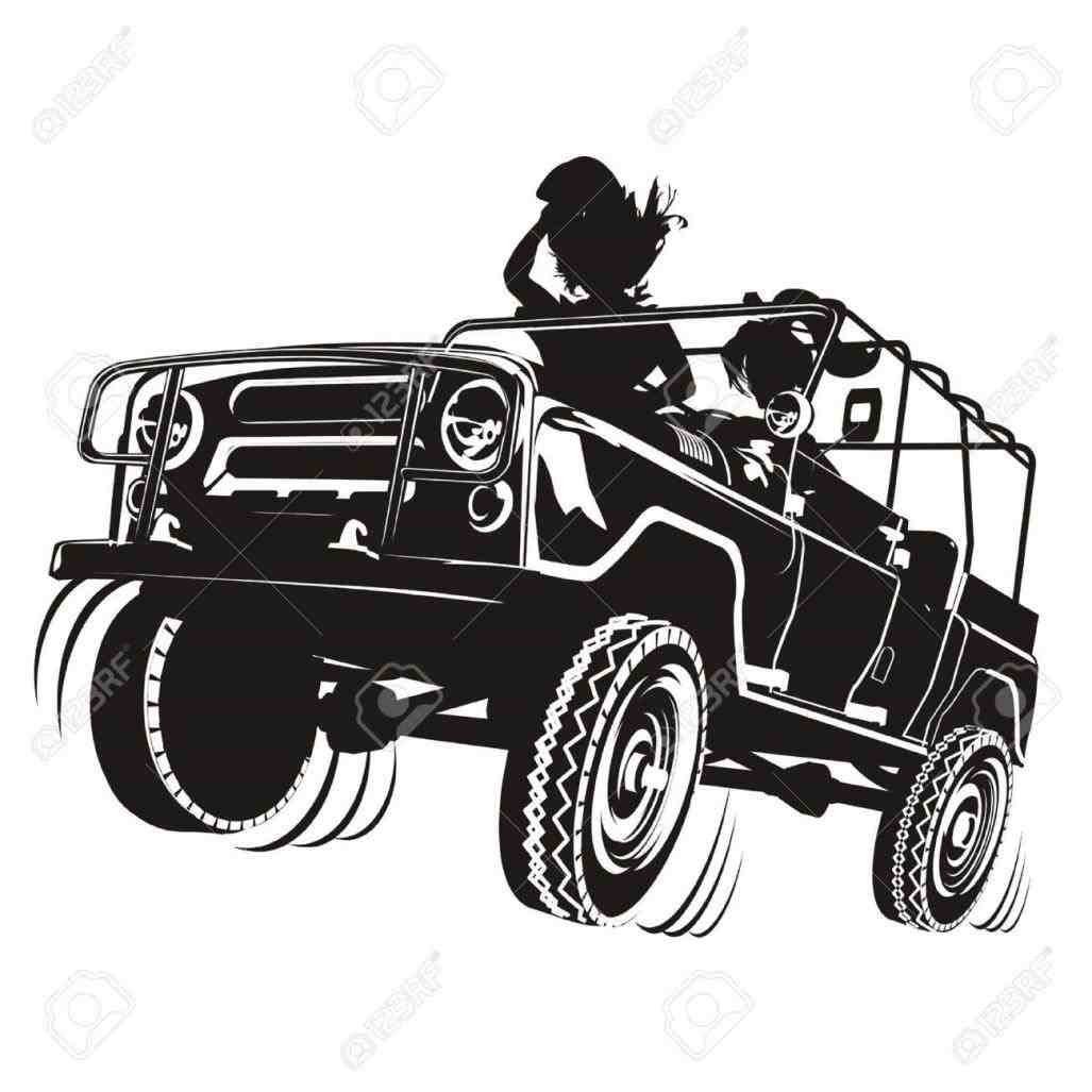 Jeep Silhouette Vector At Getdrawingscom Free For Personal Use
