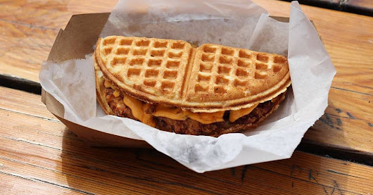 Sweet and Savory Waffle Sandwiches Are Headed to the Heights