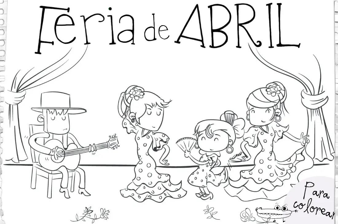 Dibujos De La Feria De Abril Actividades Para Niños Manualidades