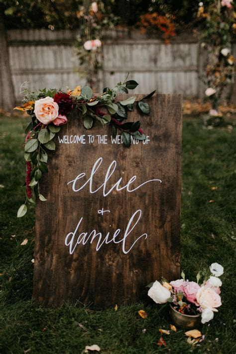 Wooden wedding welcome sign   Wedding & Party Ideas   100