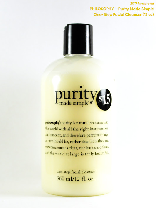 philosophy — Purity Made Simple One-Step Facial Cleanser Review