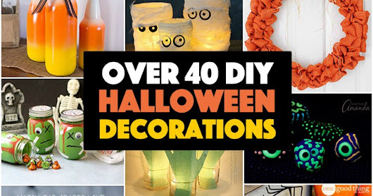 40+ Homemade Halloween Decorations for Adults