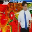 Raw: Anchors take cover as tornado hits TV station
