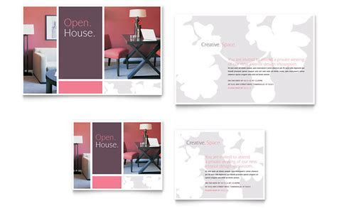 Interior Designer Note Card Template   Word & Publisher