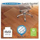 ES Robbins 45x53 Lip Chair Mat Economy Series for Hard Floors