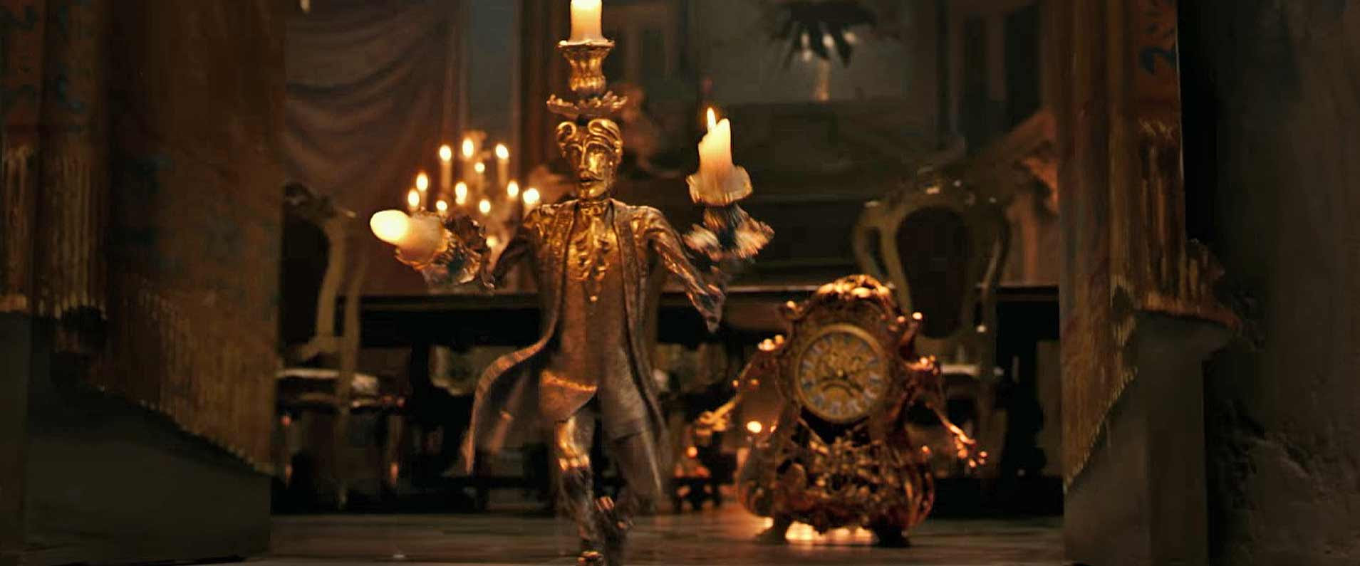 VIDEO: Lumiere  Cogsworth meet Belle, prepare dinner in two more preview clips from Disneys