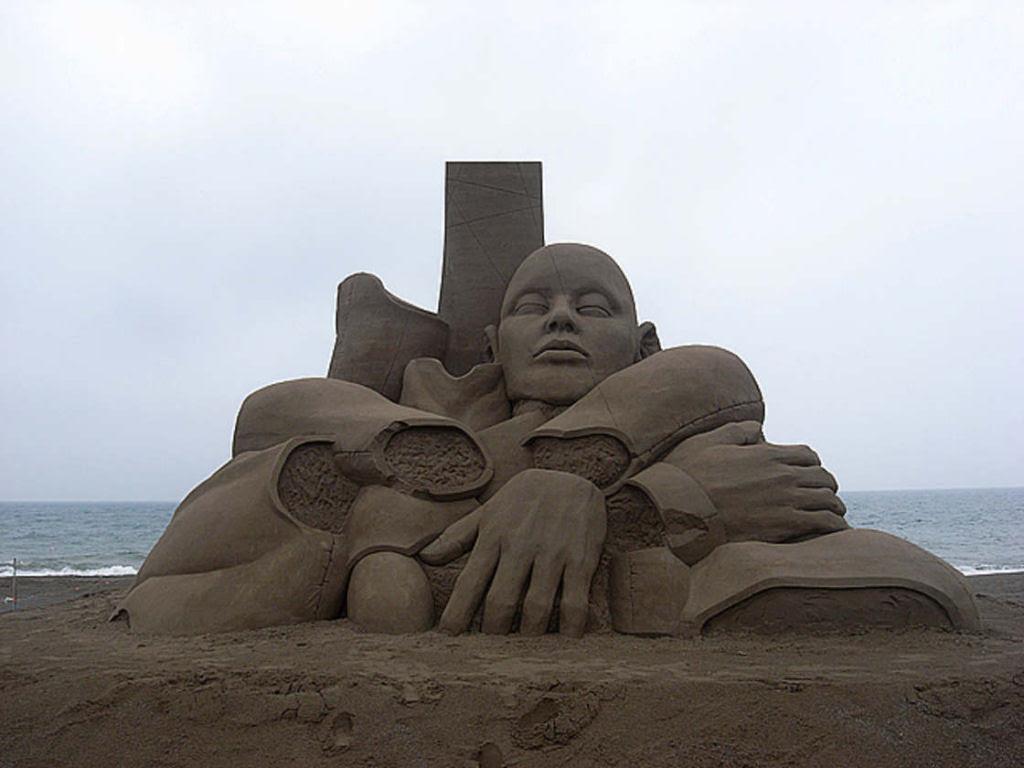 As extraordinárias esculturas de areia de Toshihiko Hosaka 20