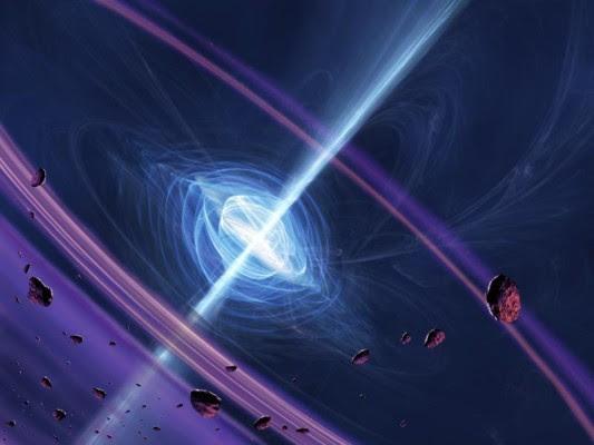 Pulsar mit Asteroidengürtel