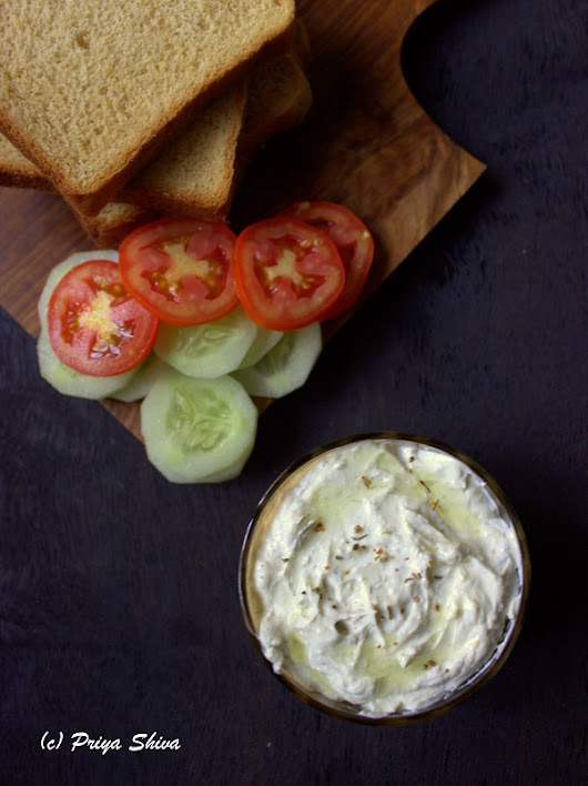 Vegetable Sandwich With Tzatziki Sauce - PRIYA KITCHENETTE