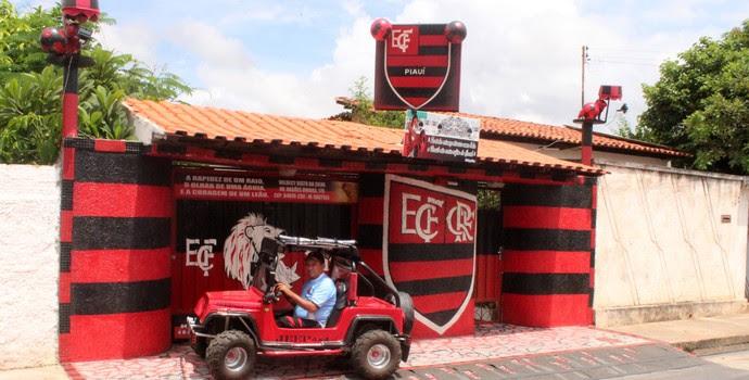 Valdecy Xisto, torcedor do Flamengo-PI e Flamengo (Foto: Abdias Bideh/GloboEsporte.com)