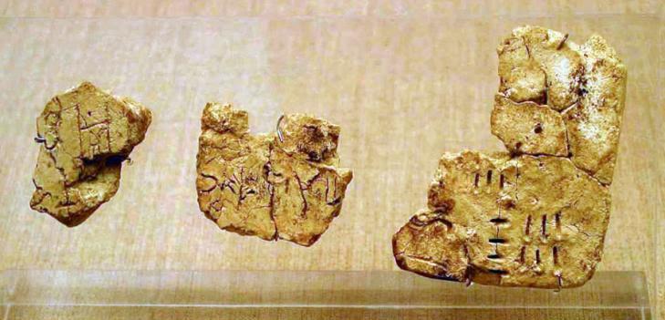 Linear a tablets akrotiri