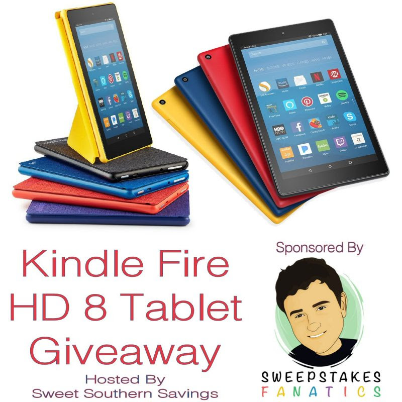 Kindle Fire HD 8 Tablet Giveaway. Ends 8/6