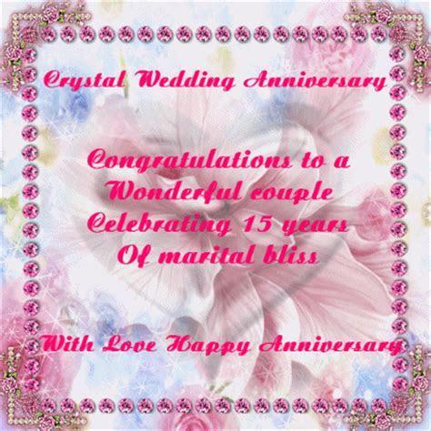 Crystal Wedding Anniversary! Free Milestones eCards