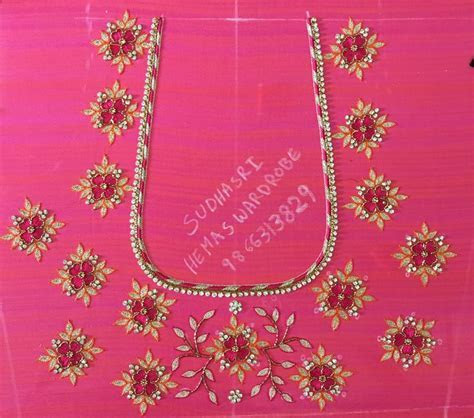 17 Best images about aari embroidery on Pinterest   Blouse