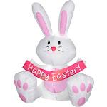 Airblown Bunny (4') - 33918 - White