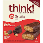 think! High Protein Chunky Peanut Butter Bars - 5ct