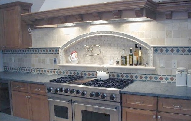 ideas for a tumbled marble backsplash error