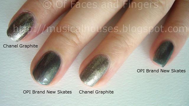 Chanel Graphite OPI Brand New Skates Comparison 2
