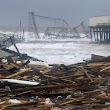 Seaside Heights is badly flooded, boardwalk damaged from Sandy