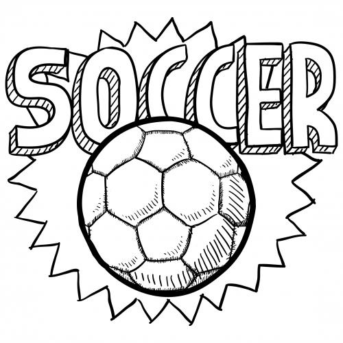 Soccer Ball Coloring Page For Kids  KidsPressMagazine.com