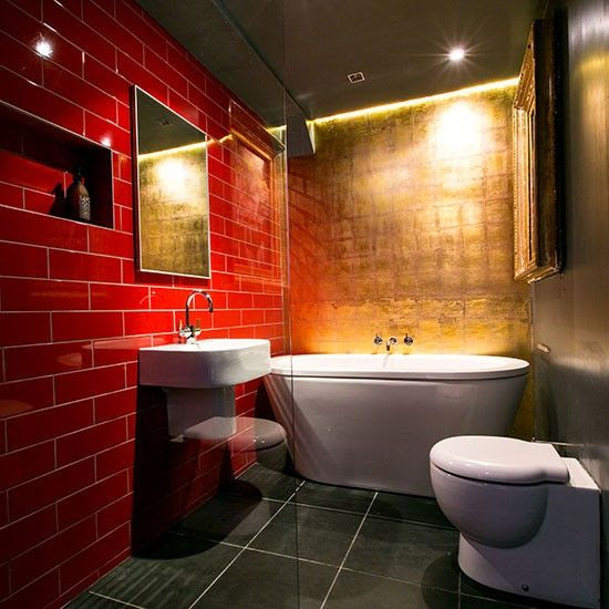 39 red bathroom tile ideas and pictures