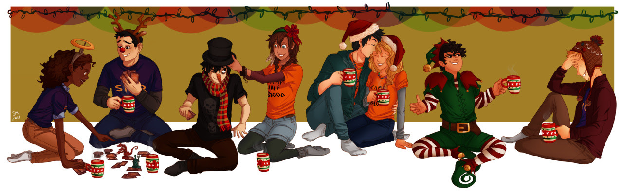 From now on, we all will be together. If the fates allow… For Christmas I want Jason's hat and Nico di Frosty. Happy Holidays everyone! :D