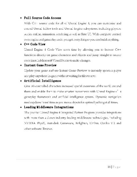 Seminar Report on Unreal Engine 4