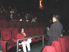 Q and A session after screening