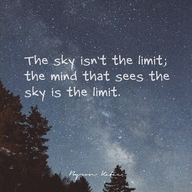 The Sky Isnt Blog For The Work Of Byron Katie
