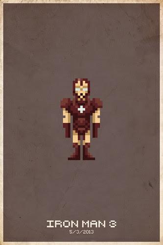 Iron Man 3 Pixel Poster