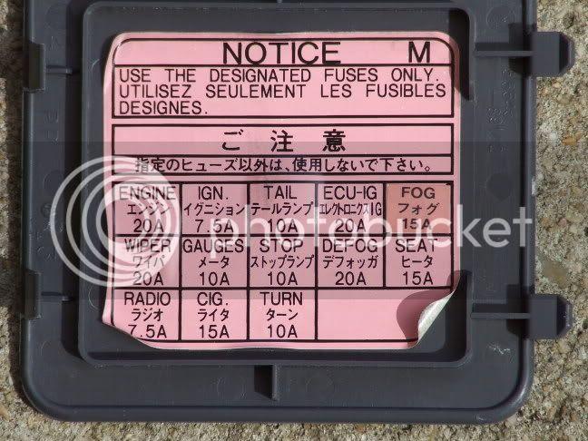 Fuse Box Diagram Toyota Hilux Surf