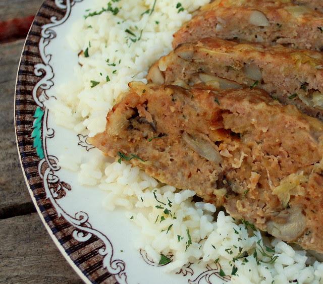 Turkey Meatloaf with leeks, mushrooms and Fontina2