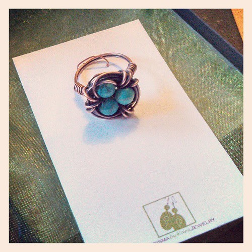 My birds nest ring just arrived! #love #Etsy #jewelry #bling #birds #spring #handmade