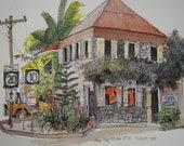 Sale, St John Virgin Islands Postcard, Watercolor Postcard, Large Oversized