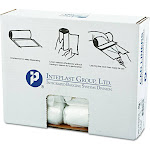 High-Density Can Liner, 24 x 24, 10gal, 8mic, Clear, 50/Roll, 20 Rolls/Carton