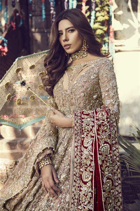 Beautiful heavily embroidered pink Pakistani bridal dress