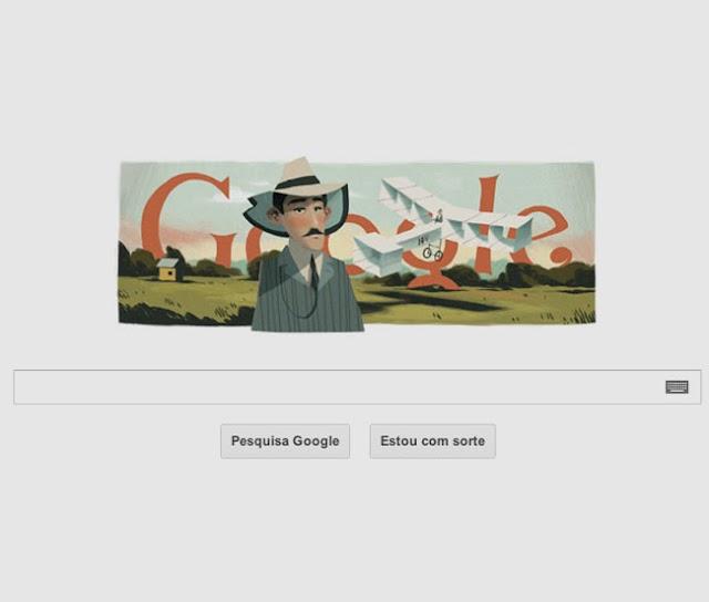 Santos Dumont ganha homenagem do Google