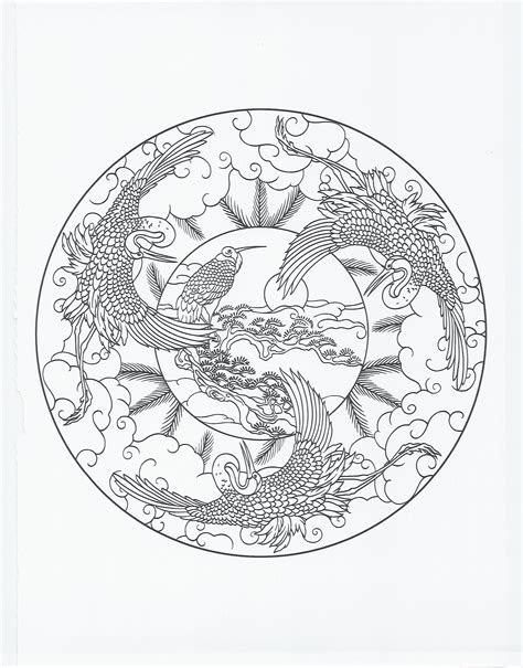 animal mandala crane coloring pages pinterest