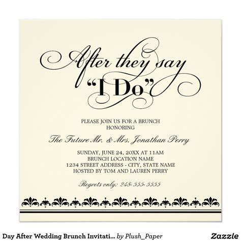 Day After Wedding Brunch Invitation   Wedding Vows