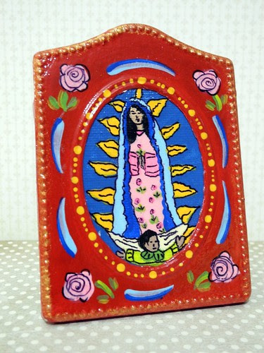 Guadalupe Painting I won in OWOH