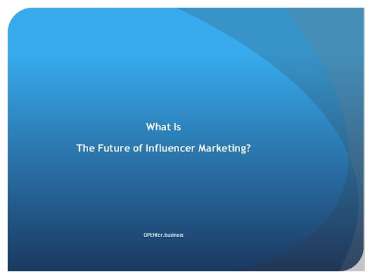 What is the future of influencer marketing?