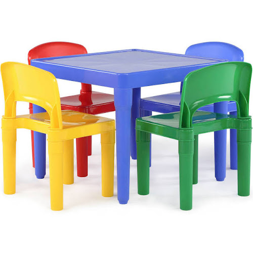 b304eb125a5 Tot Tutors Kid s Primary Table and 4-Chairs Set