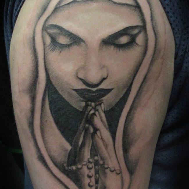 75 Best Spiritual Virgin Mary Tattoo Designs Meanings 2019