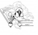 Poodle Dog Scrollsaw Intarsia or Yard Art Woodworking Pattern - fee plans from WoodworkersWorkshop® Online Store - Poodle Dogs,pets,animals,dog breeds,yard art,painting wood crafts,scrollsawing patterns,drawings,plywood,plywoodworking plans,woodworkers projects,workshop blueprints